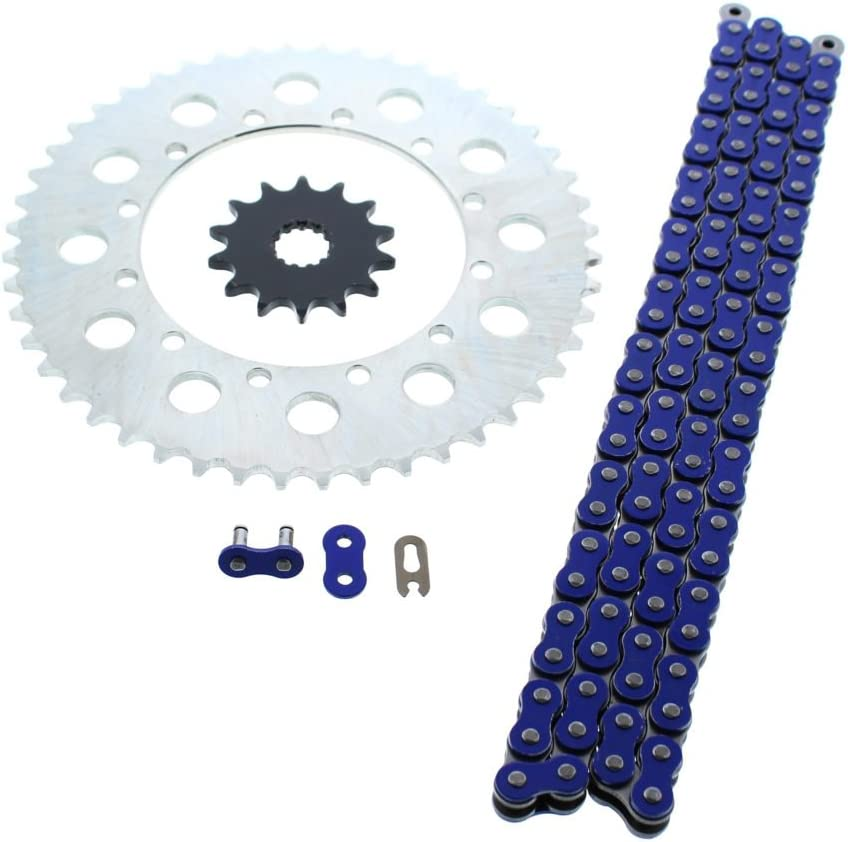 Yamaha YZ450F YZ450 F 450 F Blue Chain and Sprocket 14//49 116L