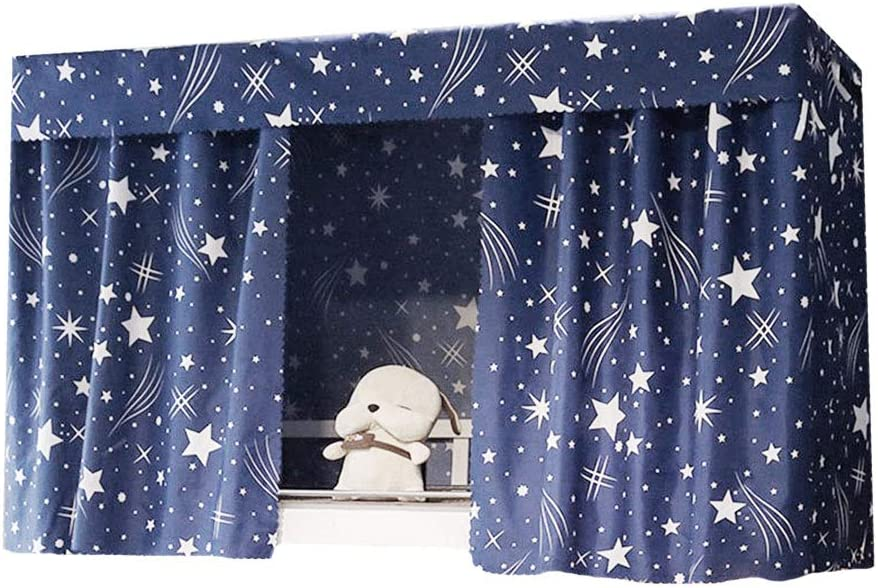 Adela Dorm Home Bunk Bed Curtains Breathable Dustproof Single Sleeper Bed Canopy Blackout Cloth Curtain (1.15 3PCS)