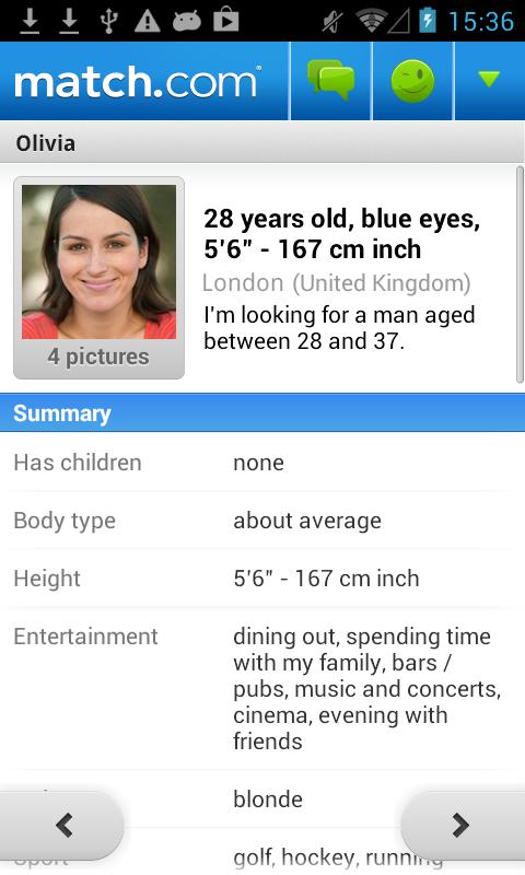 Match com description