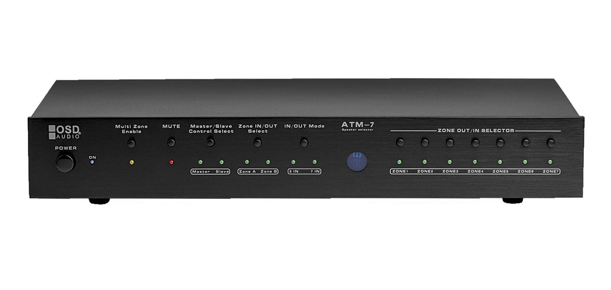 OSD Audio ATM7 Automatic 7-Zone Speaker Selector w/ IR Remote Control IR Code