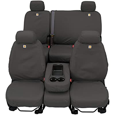 Covercraft SSC2412CAGY Carhartt SeatSaver Custom Seat Covers - Front Row Bucket Seats for Select Ford Models, Gravel: Automotive [5Bkhe0400014]