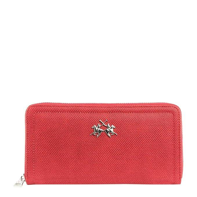 La Martina cartera para mujer Around Cremallera Lia Brick Red 41 W007 118: Amazon.es: Ropa y accesorios