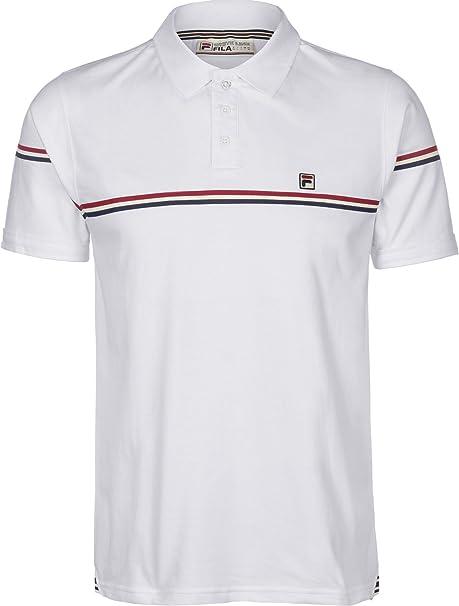 Fila Vintage Uomo Shirt Martelli stampato a righe Logo Polo ...