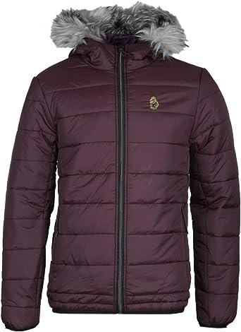 popular brand no sale tax great quality LUKE 1977 South Far Faux Fur Hooded Plum Puffer Jacket: Amazon.co ...