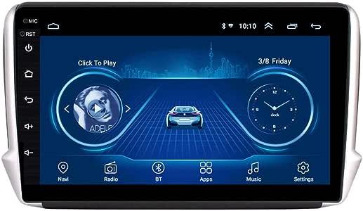 Navegador GPS para Coche, Reproductor Multimedia para Coche Android 9.0 con Pantalla de 10.1 Pulgadas, para PEUGEOT 2008 208 2014-2018, Bluetooth Radio para Entretenimiento,4g+wifi 1g+32g: Amazon.es: Coche y moto