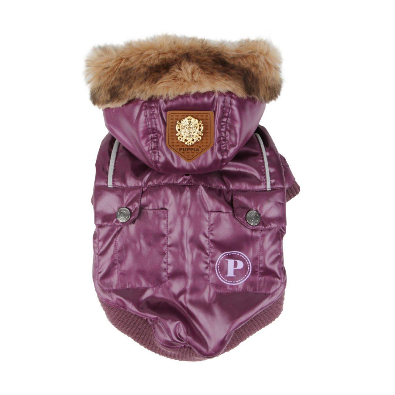 Puppia PALD-JM903-PR-L Finale Purple Dog Coat, L