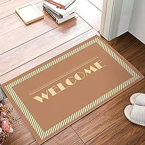Libaoge WELCOME Doormat Welcome Mat Entrance Mat Indoor/Outdoor Door Mats Floor Mat Bath Mat