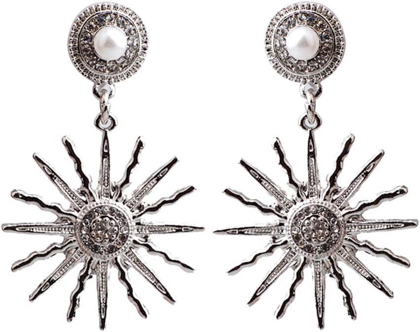 XJYA Pendientes con Tuerca De Oro De Sun Sun - Pendientes De Perlas De Imitación Y A