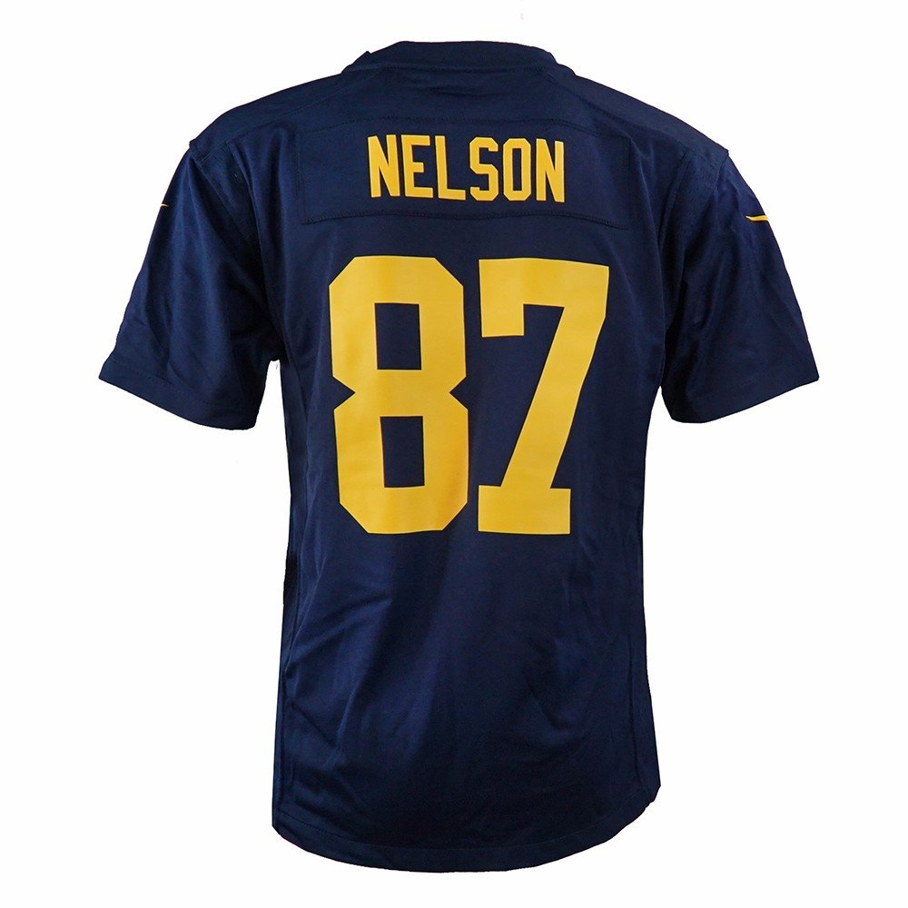 finest selection 6e842 0a874 Nike Jordy Nelson Green Bay Packers NFL Navy Game Team Jersey for Youth