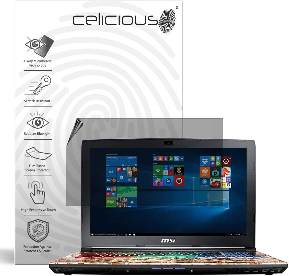 Celicious Privacy Plus 4-Way Anti-Spy Filter Screen Protector Film Compatible with MSI GE62VR 7RF Apache Pro