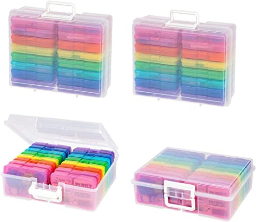 Clear 2 Pack IRIS Extra Large 4 x 6 Photo and Craft Keeper