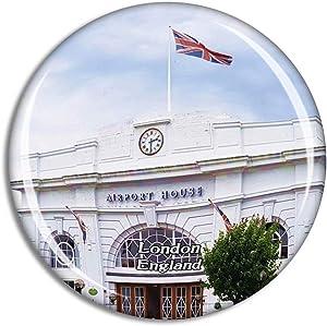London Croydon Airport Visitor Centre UK England Fridge Magnet Travel Gift Souvenir Collection 3D Crystal Glass Sticker