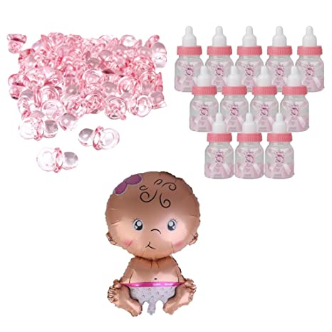 Sharplace Pink Baby Candy Botellas Cajas Baby Shower Favors Bautizo ...