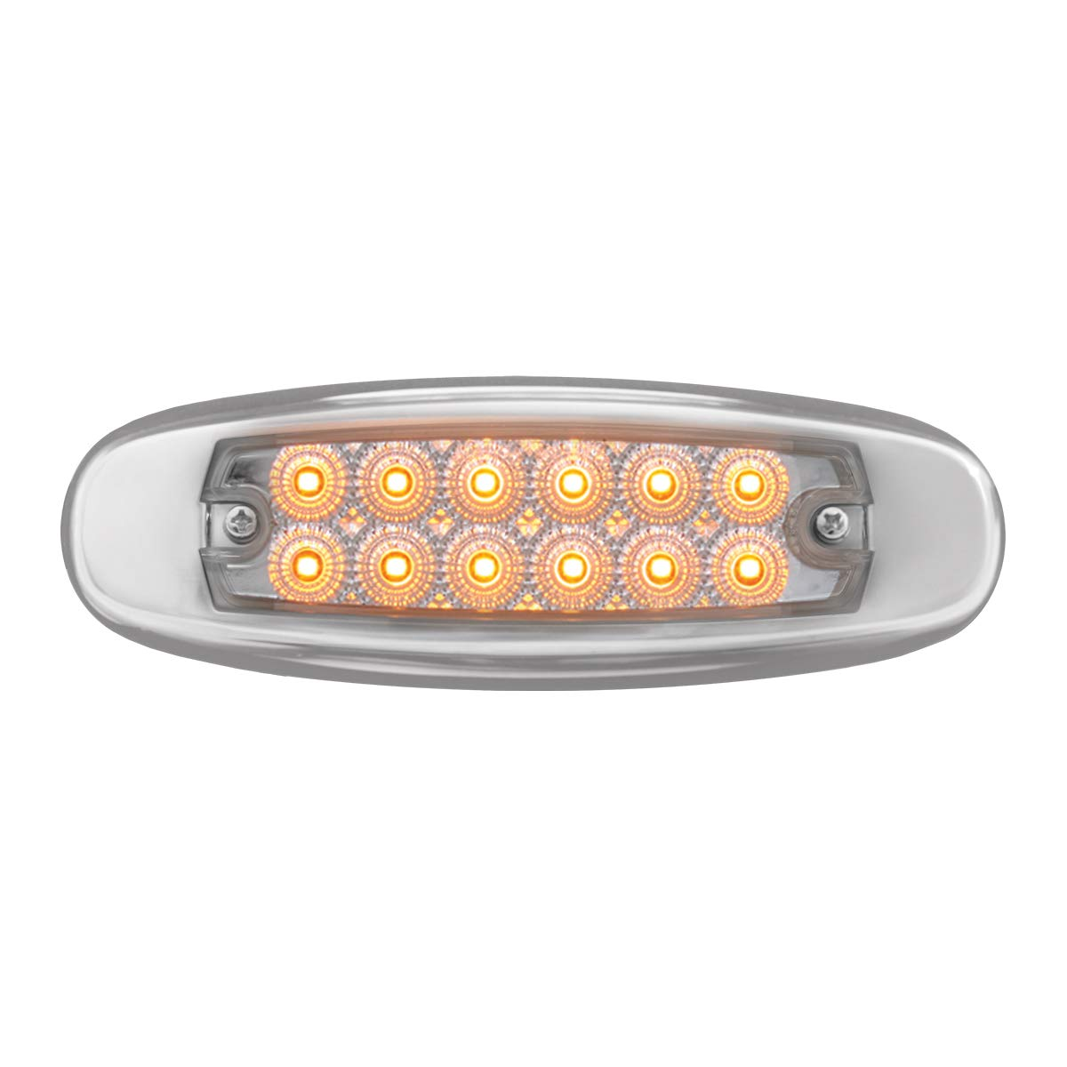 Ultra Thin Spyder Am//Clear 12LED Dual Function With S.S. Rim Grand General 76441 Light