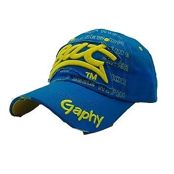 Zarupeng-Joyas Gorras beisbol,Zarupeng Gorras bordadas Bat Summer Cap para hombres mujeres Sombreros casuales Hip Hop Gorras de béisbol (Azul): Amazon.es: ...