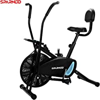 Sparnod Fitness SAB-02 Air Bike Exercise Cycle for Home Gym  -  Free Installation Service  -  Dual Action for Full Body Workout (Setting for Moving Handles/Stationary Handles)
