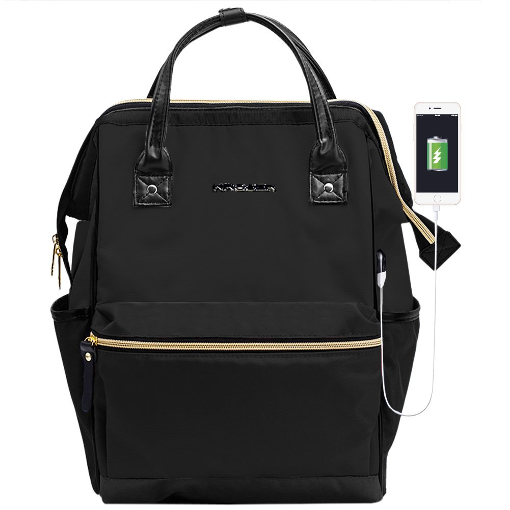 KROSER Laptop Backpack 15.6 Inch Stylish School Computer Backpack Doctor Bag Water Repellent College Casual Daypack with…
