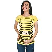 M.M.C. Ropa premamá Divertida y Adorable, Camiseta con Estampado, Regalo Durante el Embarazo - Manga Corta