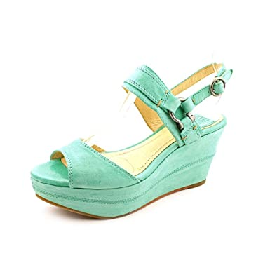 a158f851cf6 Frye Carlie Peep Toe Wedge Sandals Shoes Womens  Amazon.co.uk  Shoes   Bags