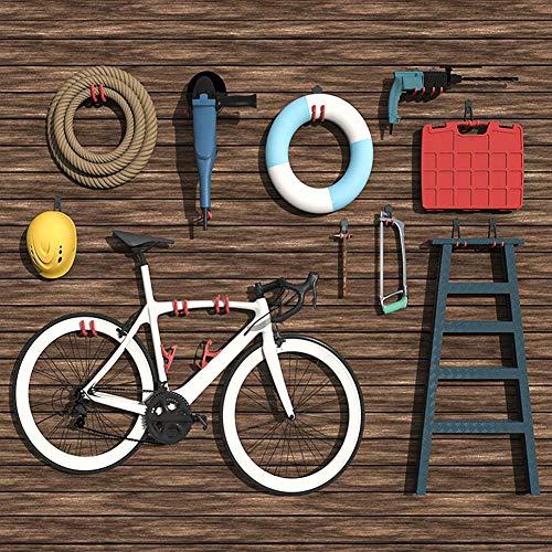 TORACK Garage Hooks, 15 Pack Garage Storage Hooks & Hangers, Heavy Duty Garage Tool Organizer Wall Mount for Ladders, Hoses and Bikes