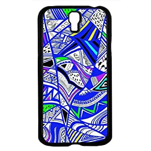 Tribal Print Pattern Blue Colorful Hard Snap on Phone Case (Galaxy s4 sIV)