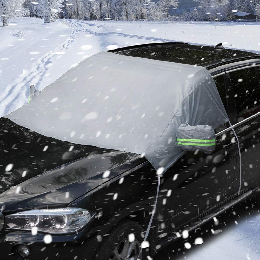 PowerTiger Car Windshield Cover Windscreen Frost Snow Protector Sun Shield All Weather Fit for Car SUV Jiujiu