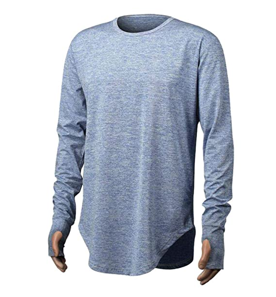 Resplend Camiseta de Manga Larga con Cuello Redondo de Manga Corta para Hombre Camiseta Blusa Casual: Amazon.es: Ropa y accesorios