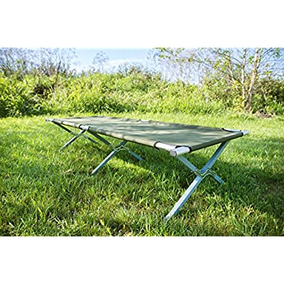 VIVO Green Camping Cot, Fold up Bed, Carrying Bag (COT-V01): Sports & Outdoors
