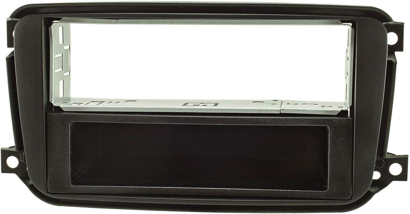 Tomzz Audio 2451 048 Radioblende Metallschacht Kompatibel Mit Smart Fortwo 451 Facelift Ab 10 2010 Schwarz