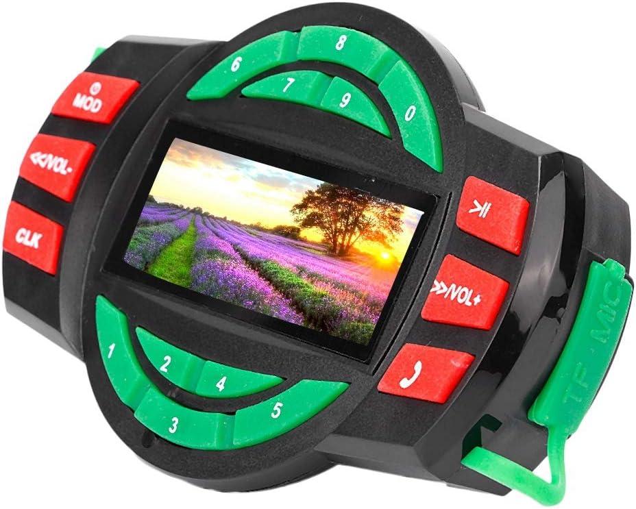 Lecteur MP3 Composition du T/él/éphone Radio FM EBTOOLS LCD Moto Etanche Lecteur MP3 BT FM Radio Haut-parleur avec Chargement du T/él/éphone