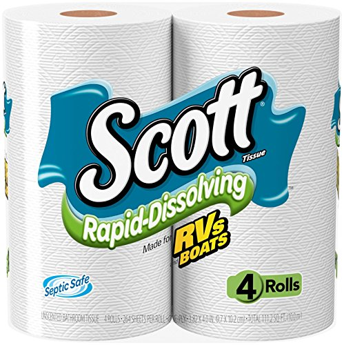 Scott Rapid Dissolve Toilet Tissue - 4 pk