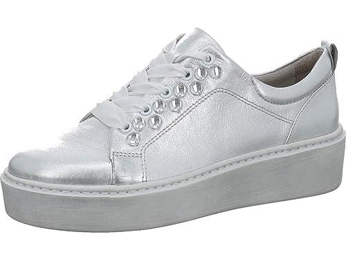 Tamaris Damen Plateau Sneaker Silber: : Schuhe