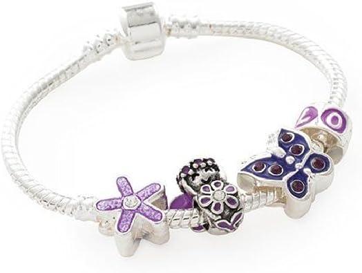 Amazon.com: Liberty Charms Purple Fairy bañado en plata ...