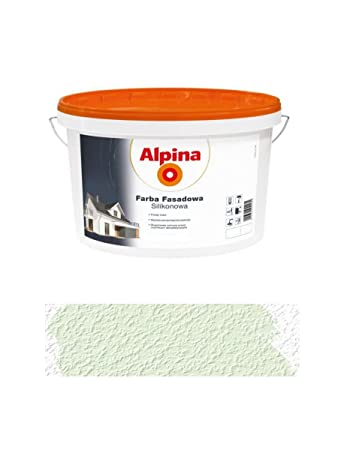 Fassadenfarbe hellgrün  Alpina 2,5 L Silikon-Fassadenfarbe außen Pistacjowa, Pistazie ...