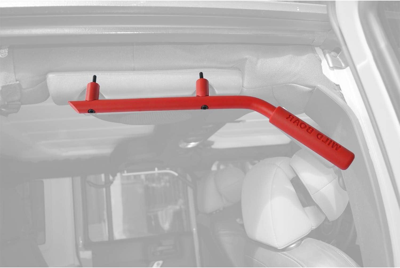 Moab Red Rear(Back) Grab Bar Grab Handle Kit for 2007-2018 Jeep Wrangler JK JKU 2//4 Door Pair