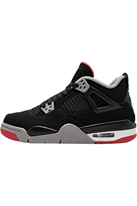 Black/Fire Red-Cement Grey, 4Y