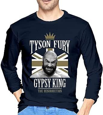 Whsduids Retake Tyson Fury Mens Casual Slim Fit Basic Long Sleeve Fashion T-Shirt,Navy,Medium