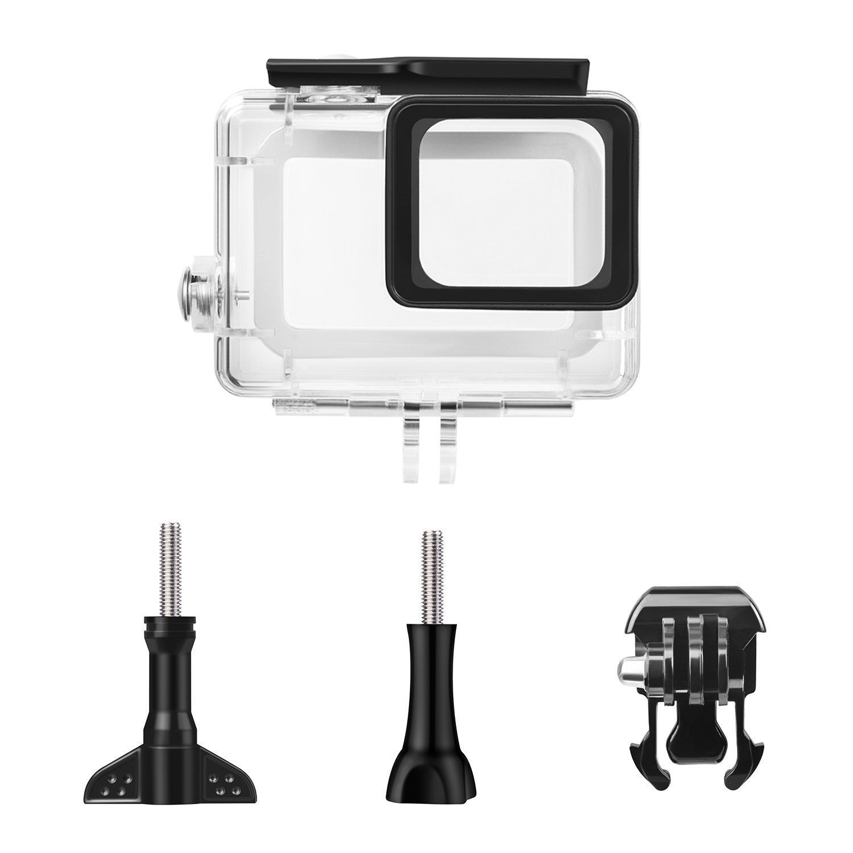 Only Black Protective Waterproof Housing Case Accessories Bundle for GoPro Hero 7 Hero 2018 Hero 6 Hero 5 Hero 2018 Hero 6//5 Action Camera Only Black Rhodesy 18 in 1 Accessories for GoPro Hero 7