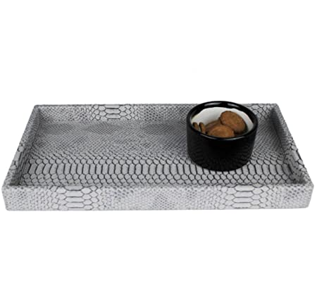 SIGNATURE HOME COLLECTION 195 A02 Vanity Tray, Python Effect
