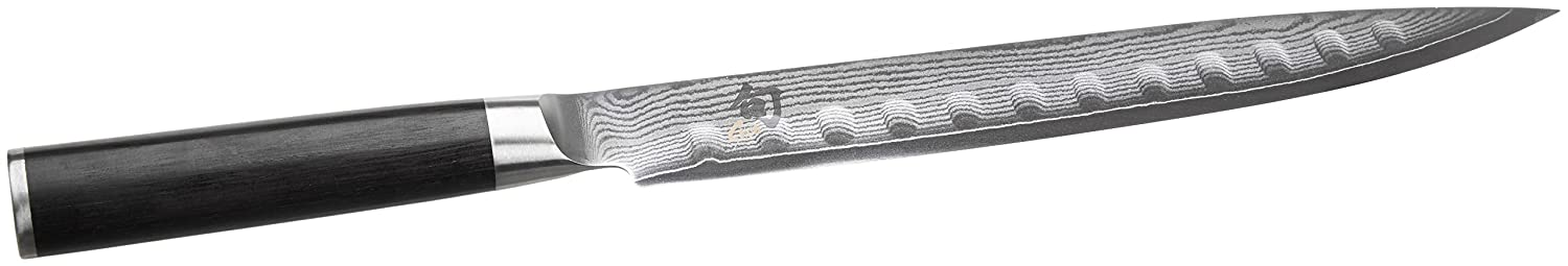 JKC Kai Damascus Granton Slicer 225mm DM0720 Kitchen Knives and Sharpeners Specialty Knives