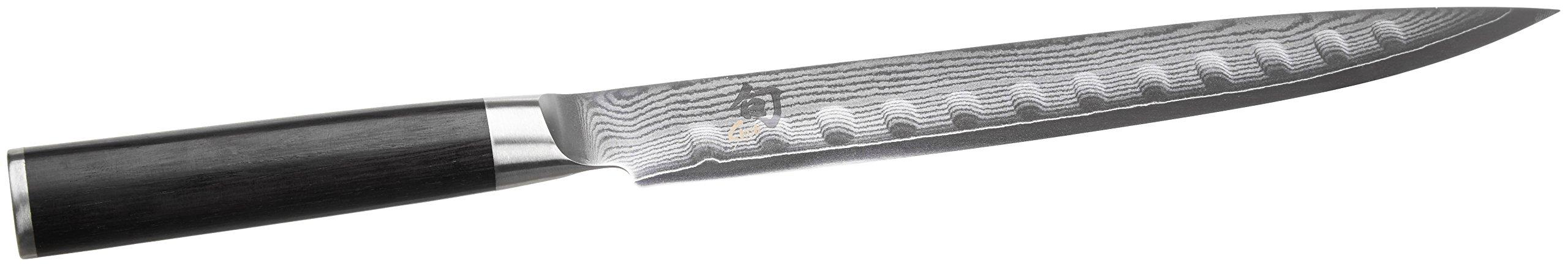 Shun DM0720 Classic Hollow-Ground Slicing Knife, 9-Inch