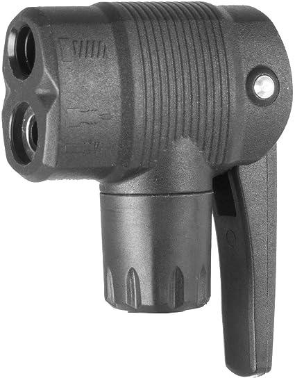 FV AV Valves Multi-use Connector Head Tyre Air Pumps Inflator Pump Nozzle//Clips