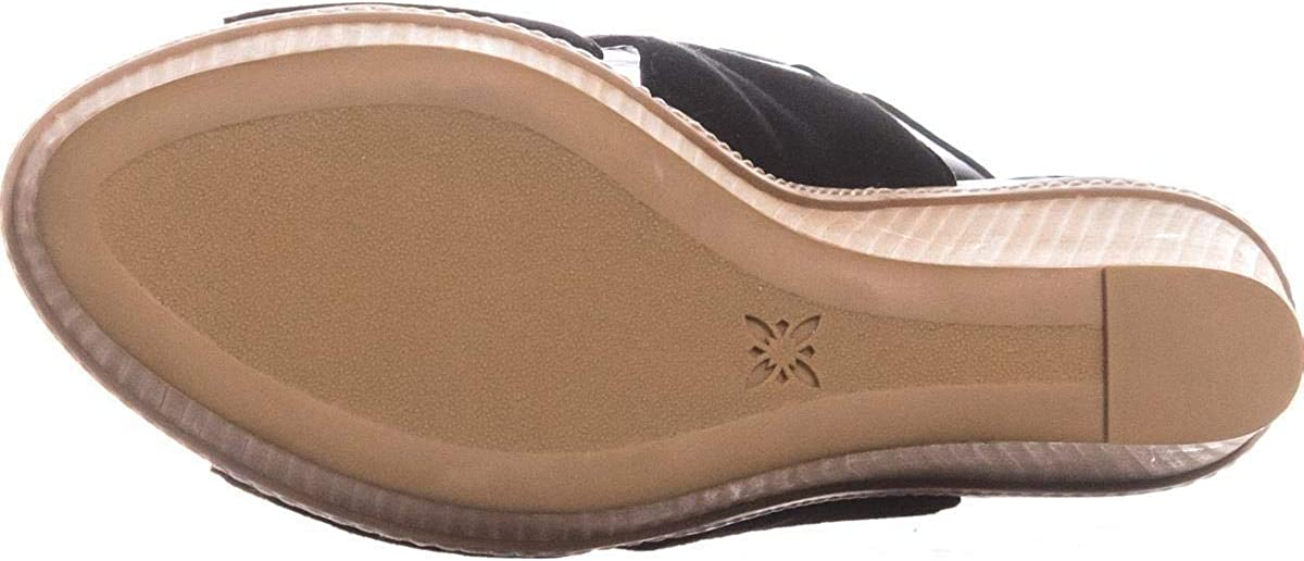 BCBGeneration Penelope Open Toe Wedge Sandals 39 EU Black 9 US