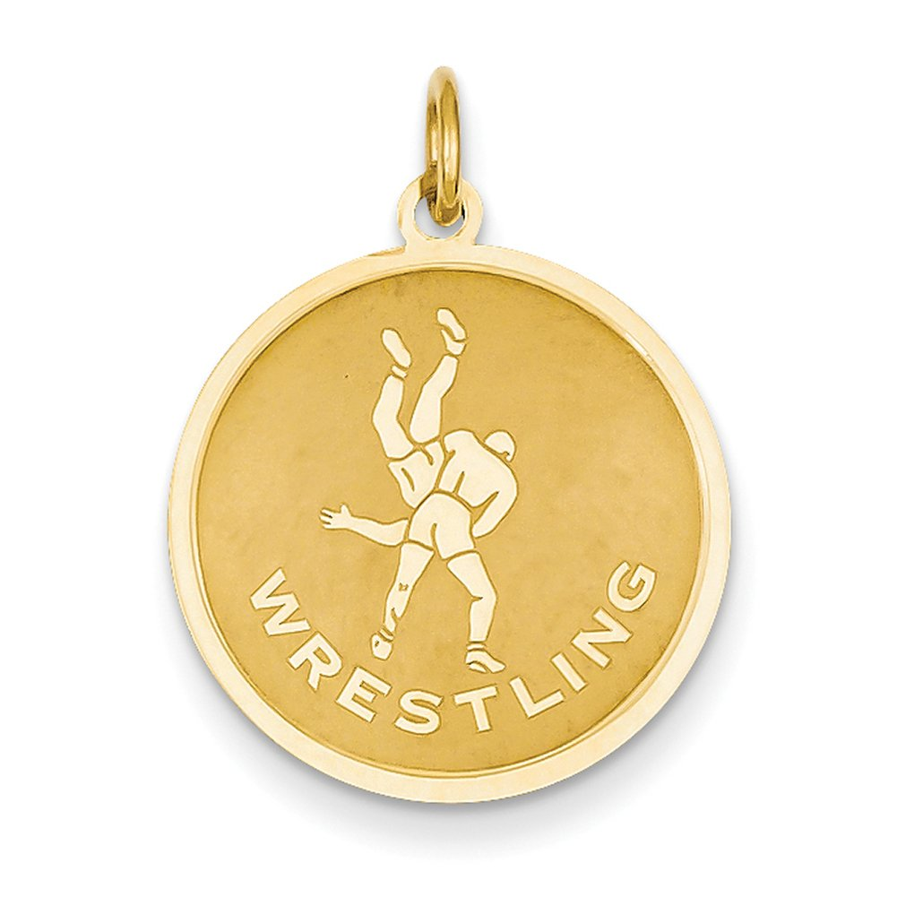 14k Yellow Gold Wrestling Charm C1240 by Lex and Lu