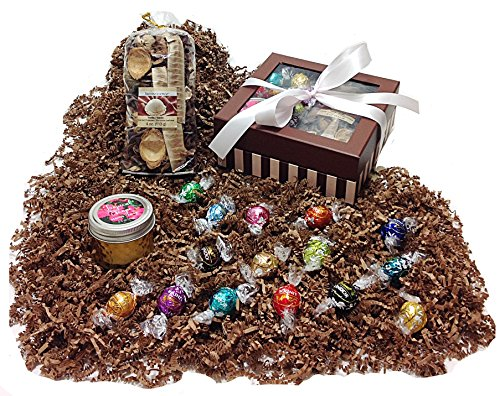 Autumn Gift Box - Lindt Lindor Gourmet Chocolate Truffles, Potpourri & Candle (TE) (Thanksgiving Gift Boxes)