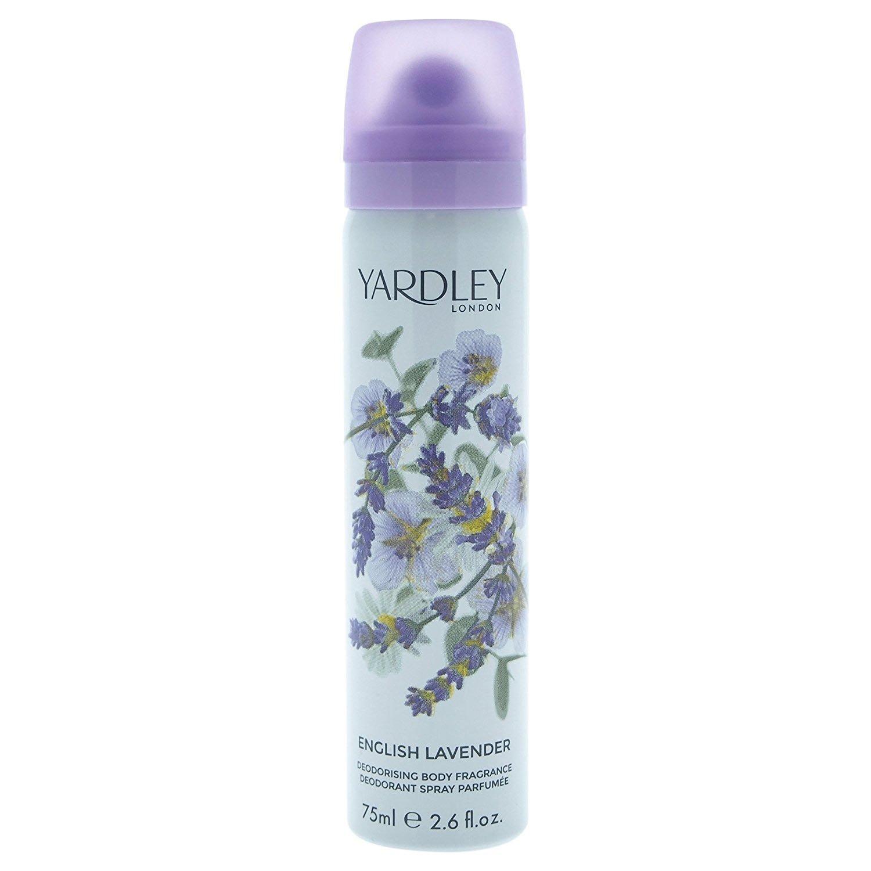 Yardley London for Women Deodorant Body Spray, English Lavender, 2.6 Ounce