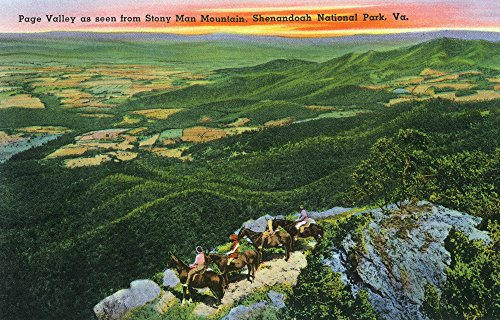 Shenandoah National Park, VA - Aerial View of Page Valley from Stony Man Mountain (12x18 SIGNED Print Master Art Print w/ Certificate of Authenticity - Wall Decor Travel - Valley Va View