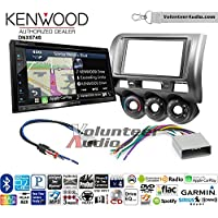 Volunteer Audio Kenwood DNX574S Double Din Radio Install Kit with GPS Navigation Apple CarPlay Android Auto Fits 2002-2005 Honda Civic SI