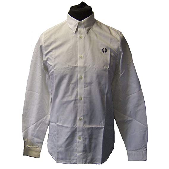 72f46228c Fred Perry M4533 Button Down Shirt White Size M  Amazon.co.uk  Clothing