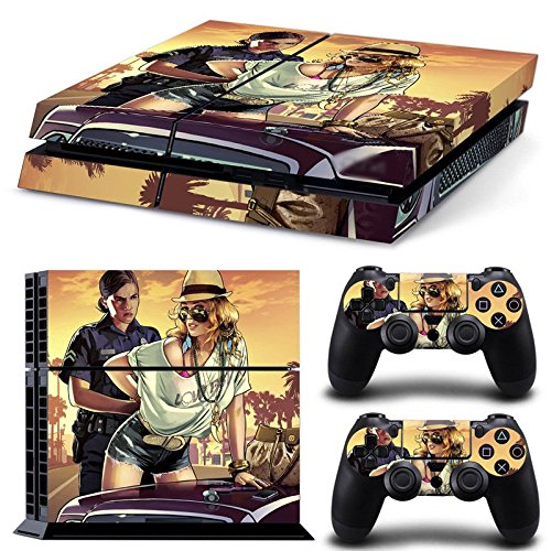 Price comparison product image GoldenDeal PS4 Console and DualShock 4 Controller Skin Set - Auto Assasin Theft Videogame - PlayStation 4 Vinyl